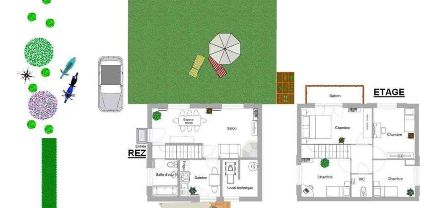 Chalet de 98 m2 au dessus de Grone